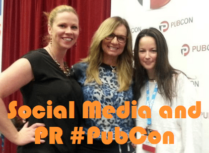 Social Media PR at PubCon with Lisa Buyer and Melissa Fach