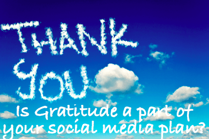Is gratitude a part of your social media plan? #Thanksgiving