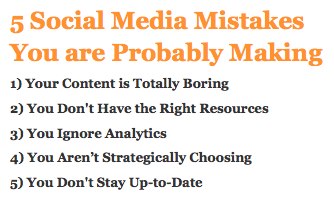 5 Social Media Mistakes You are Probably Making
